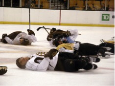 Hockey Team Exhausted