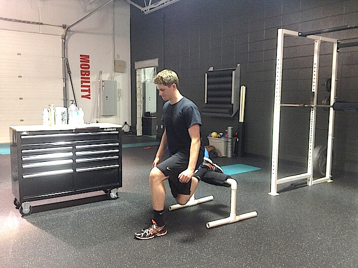 rear foot elevated split-squat