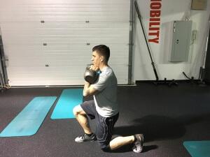 2-KB split-squat