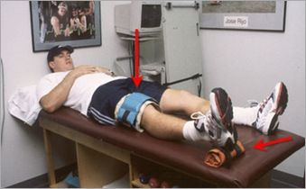 Supine knee extension