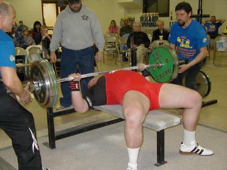 Ball State University powerlifter Matt Wenning